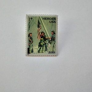 Vintage 911 Memorial Stamp Lapel Pin